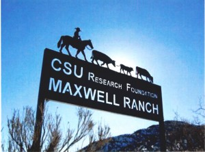 Maxwell Ranch sign