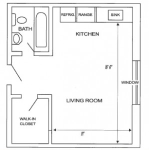 Center Studio Floor Plan